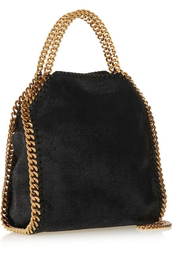 3e38115f3f48 The Falabella mini faux brushed-leather shoulder bag