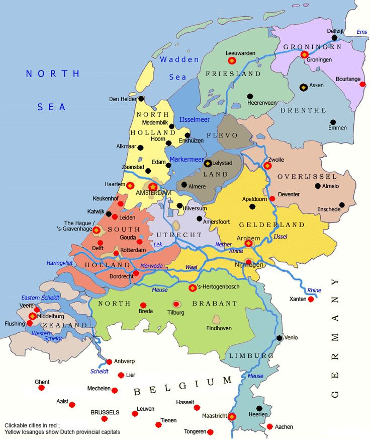 Map of the Netherlands - Netherlands Travel Guide - Eupedia
