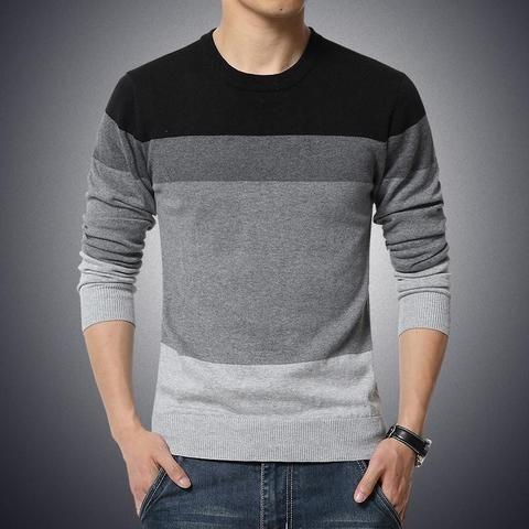 Striped sweater O-neck