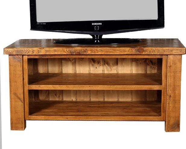 English Beam Open Reclaimed Wood Media Unit