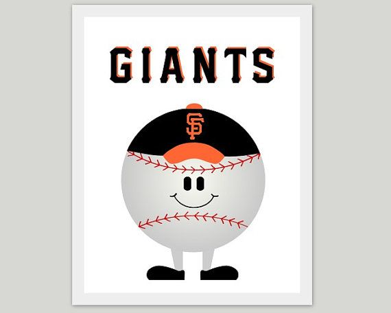 San Francisco Giants Artwork, Childrenu0027s Room Artwork, Print, Kids Baseball  Art, Sports Print, Boy, SF, World Series, Kids Room