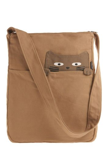 Look What the Cat Bag-ged In | Mod Retro Vintage Bags ~this would be cute with any design peeking over the edge...!