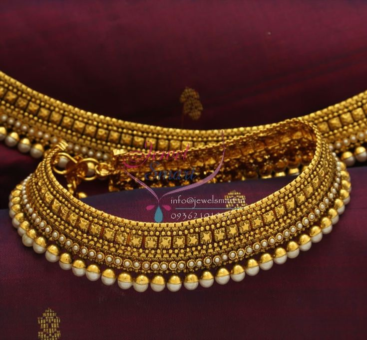 P0760 Antique Pearl Wide Payal Best Quality Fashion Jewellery ...