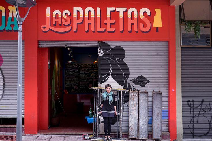 La Mordida Sign Painting // Cyla Costa