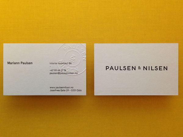 Paulsen Nilsen Business Cards By Henning Gjerde