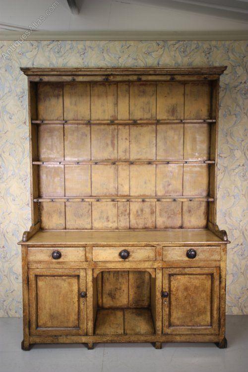 Antique Welsh Dresser In Original Cream Paint Antiques Atlas