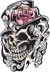 Tophat idea with a skull or potentially rather a sugar skull could be nice as a tattoo