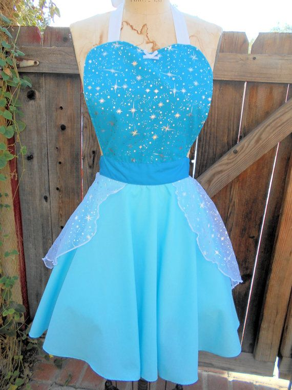 ELSA   apron for women full apron for dress by loverdoversclothing