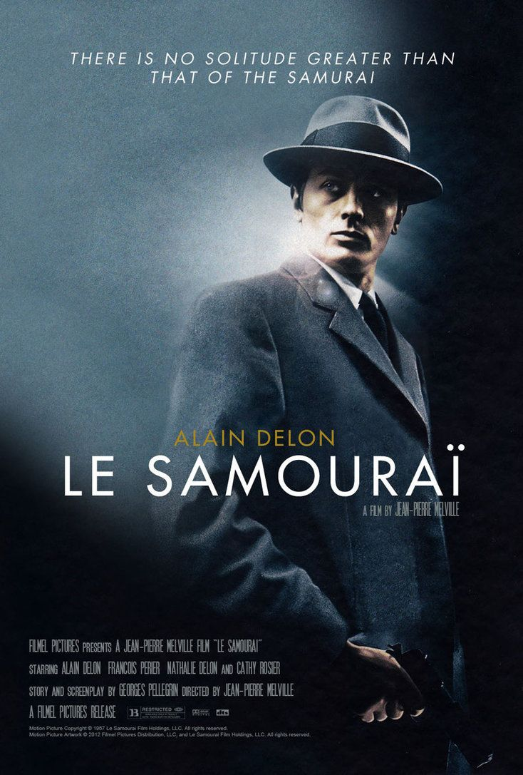 Le Samouraï  (1967) - Starring Alain Delon, Francois Perier, Cathy Rosier. Directed by Jean-Pierre Melville.