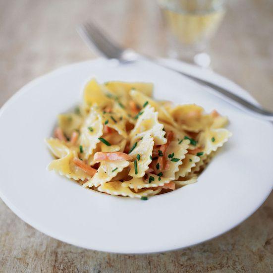 Farfalle with Creamy Smoked Salmon and Vodka Sauce Recipe - Celestino Drago | Food & Wine