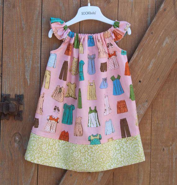 Girls Dress Pattern PDF Pillow Case Dress Sewing Pattern sizes 6m through to 10 years \