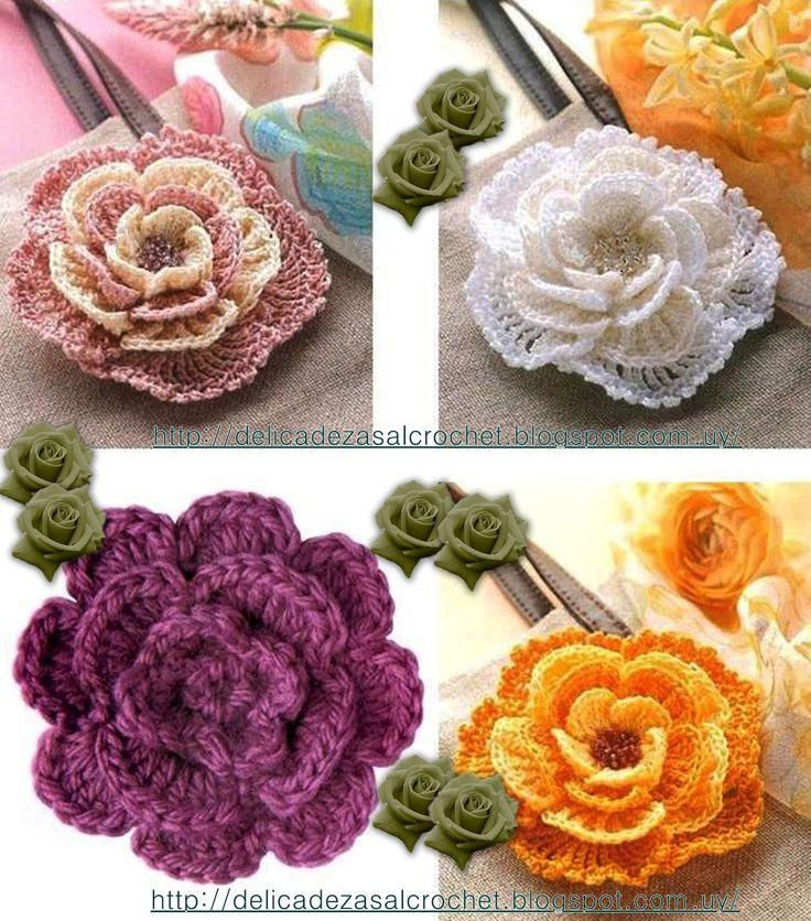 Delicadezas en crochet Gabriela: Flores tutoriales