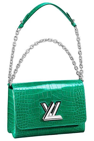 Louis Vuitton Green Crocodile Twist Bag - Spring 2015