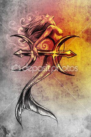 Beautiful Mermaid Pisces Tattoo Ideas On Pinterest Left Arm - 30 unique pisces tattoos design ideas boys girls