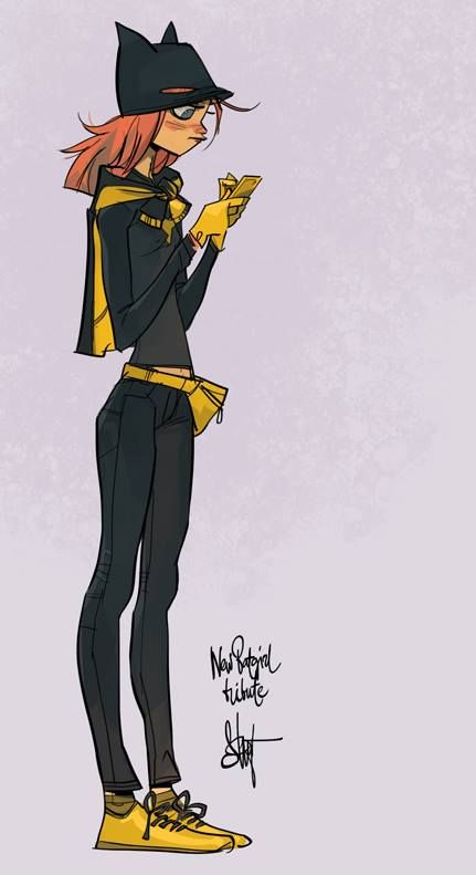 "Pinup Arena • ""'new batgirl costume' street-version tribute )"" ... love the fannypak"