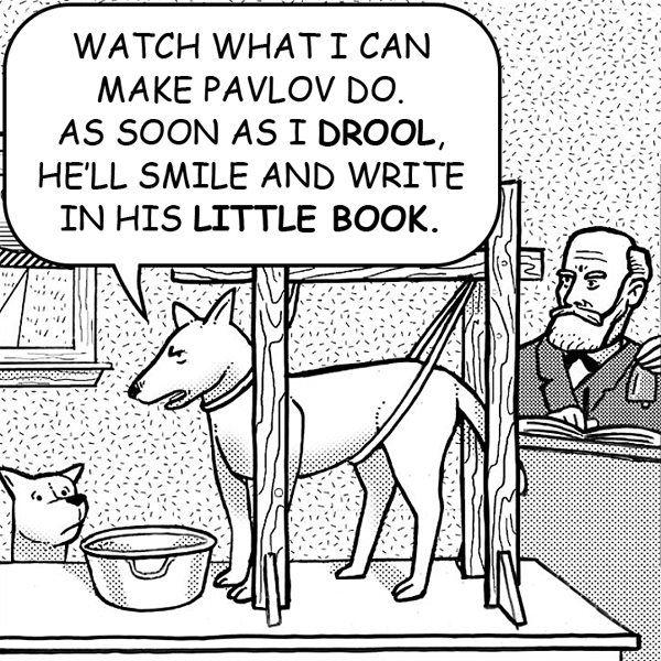 psych humour - Pavlov's dog