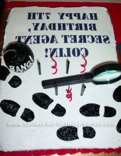 Spy birthday cake ideas