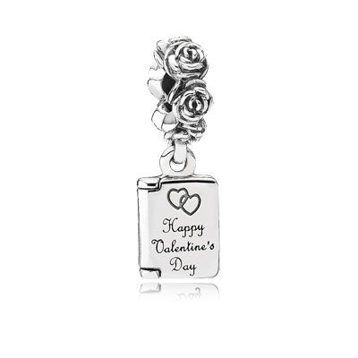 """Give her a Valentine's Day card embellished with roses and hearts. Open it and discover the sweet message written within: """"To my dear Valentine, will you be mine."""" This is a love note which will be preserved forever. $50 #PANDORAcharm #ValentinesDay"""