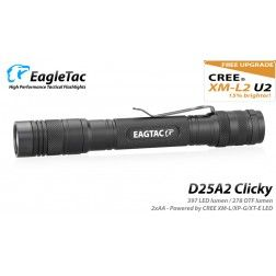 EagleTac D25A2 Clicky - 453 Lumens ( AA battery)