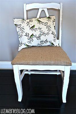 Shabby Burlap Chair