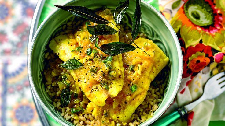 Winter warming fragrant fish stew