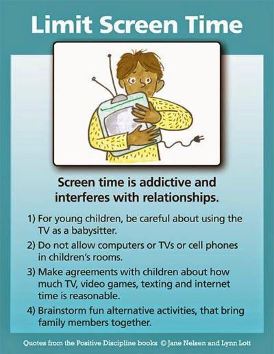 Positive Discipline: Limit Screen Time