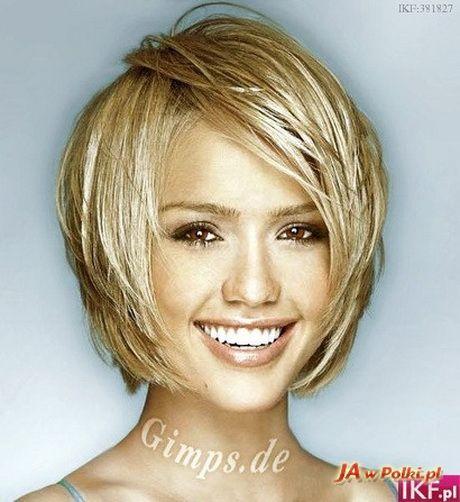 Włosy cieniowane krótkie