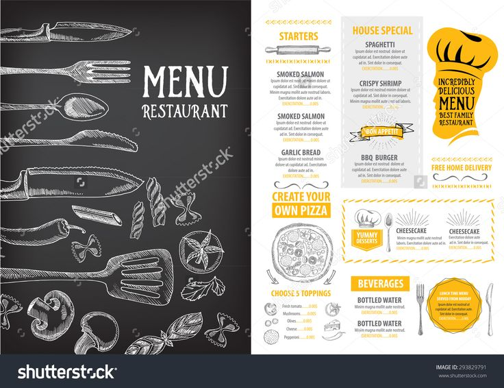 Best Menu Design Images On   Menu Layout Menu Design