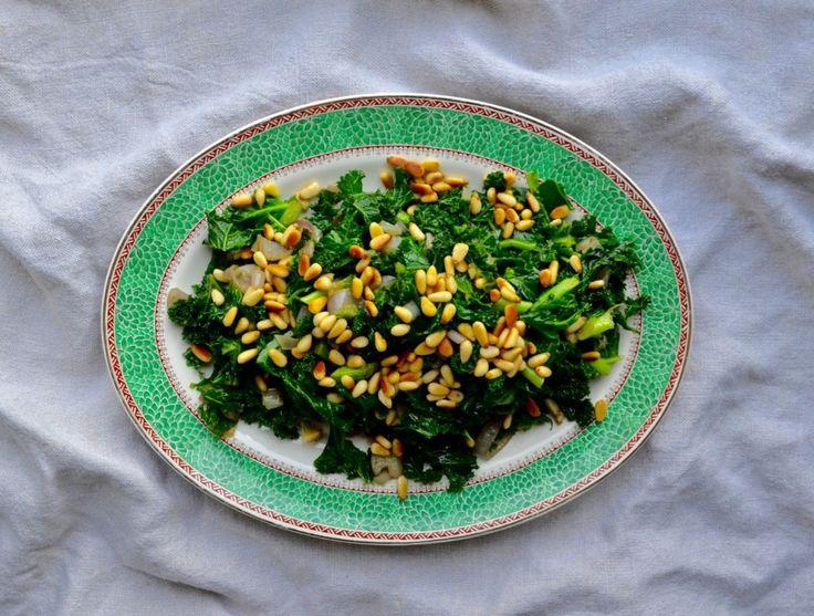 Basil Kale & Sweet Shallots