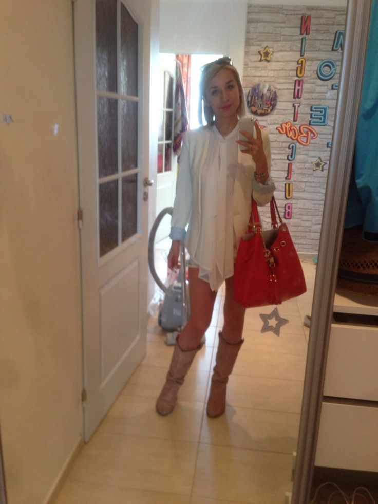 Daily outfit #zara jacket  #promod shirt #karenmilen bag #guess shorts  Leather spanish shoes