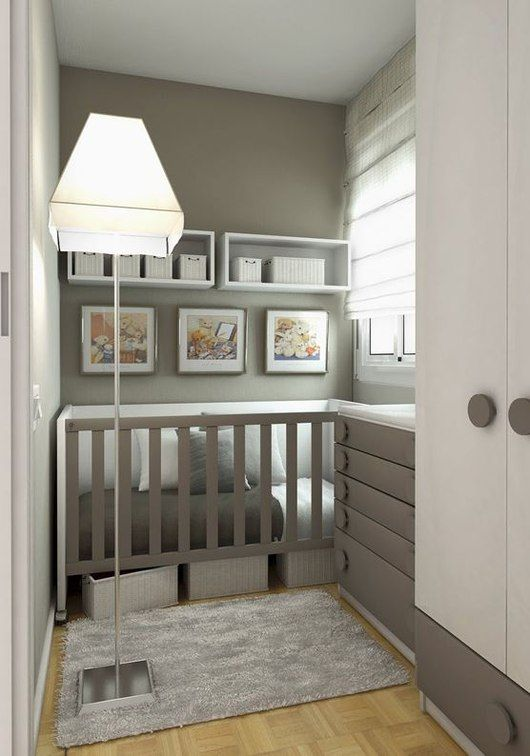 Grey! Loving the storage underneath the crib. Great for toys
