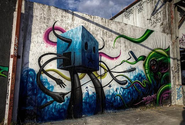 Graffiti on Wall by Jeff Soto and Maxx242