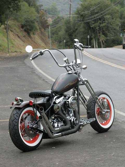 old school bobber motorcycle