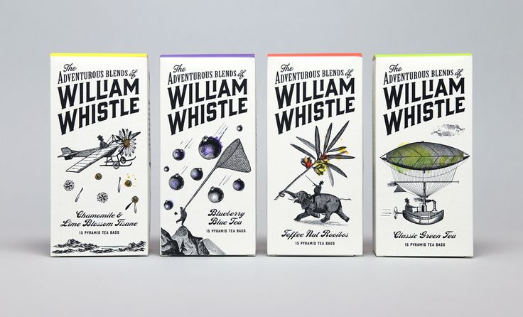 The Dieline Awards 2015: Editor's Choice - The Adventurous Blends of William Whistle — The Dieline - Package Design Resource