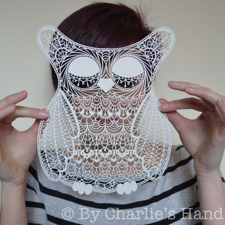 Mr Owl papercut By Charlie's Hand