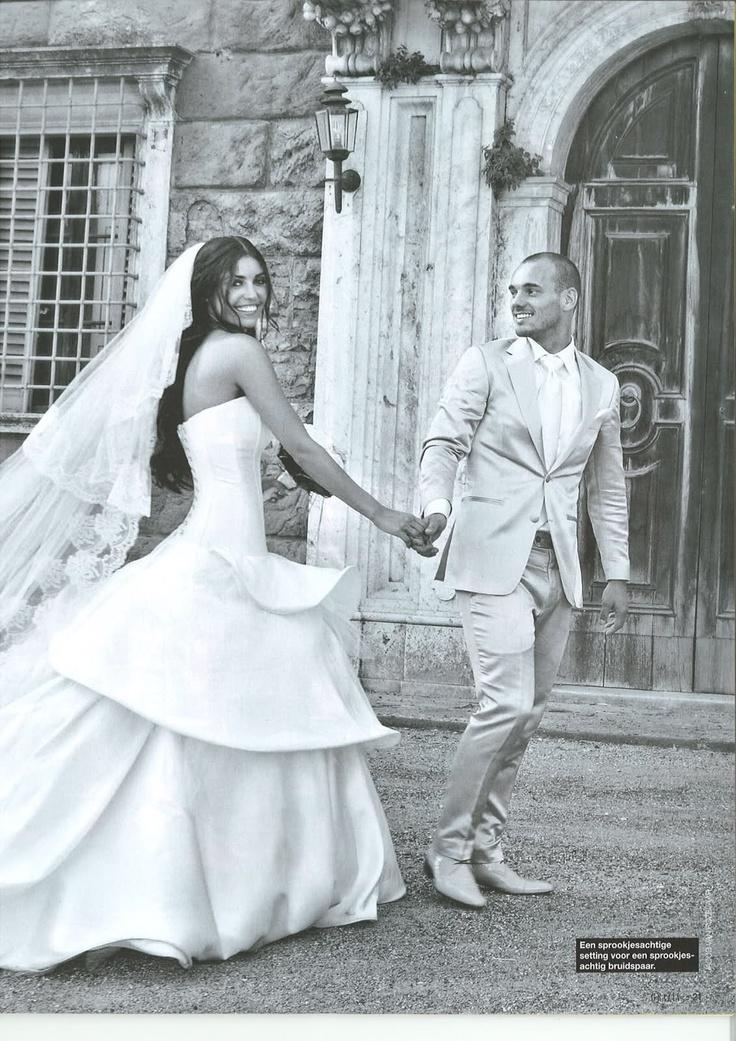 Wesley Sneijder en Yolanthe Sneijder-Cabau