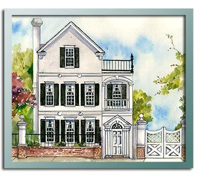 Authentic Historical Designs, LLC House Plan-2nd Charleston Square, different florrplan