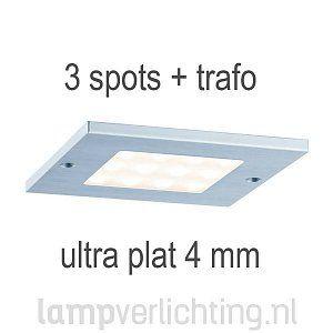 Platte LED Opbouwspots Vierkant 3x4W #inbouwspot #meubelverlichting #ledverlichting