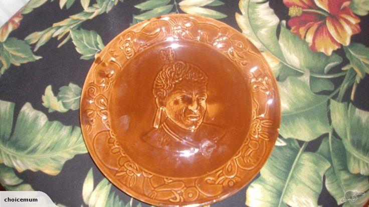 Crown Lynn Wharetana Ware. A pair - this is the chief. bid is at $2295 now.