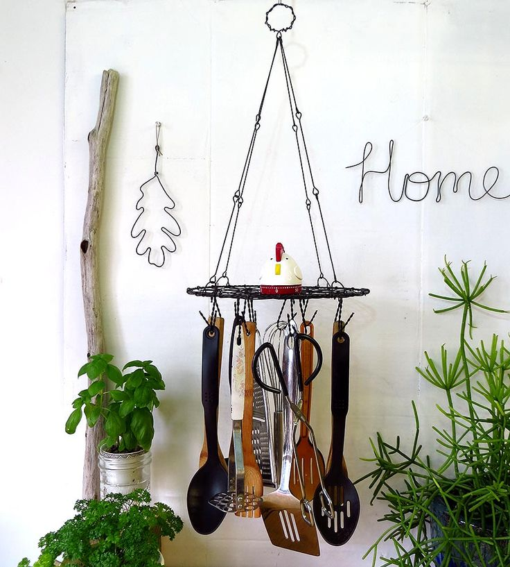Kitchen Pictures To Hang: Utensil Racks And Utensils