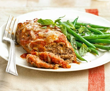 20 Minute Dinner -   Mini Meat Loaves with Green Beans.