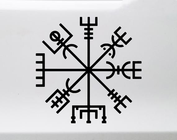 Norse Protection Rune Vinyl Sticker Decal magic wicca occult