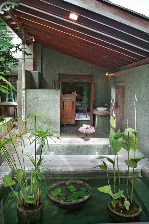 Bathroom but modified to be indoor.