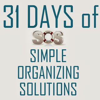 operation organization: 31 Days of Simple Organizing Solutions