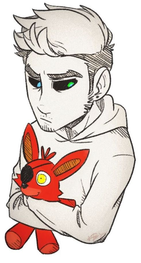 Anti with his Foxy toy.