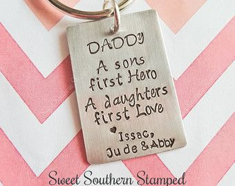 Daddy, A Son's First Hero A Daughter's First Love Keychain - Edit Listing - Etsy