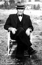 Grandfather, Alfred Burnie. Born Georgina Twp., 1869 (at Morning Glory Inn), - d.1949