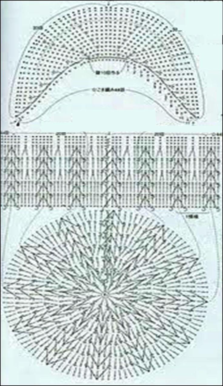 Crochet ganchillo patrones graficos boina gorrito - Patrones de ganchillo ...