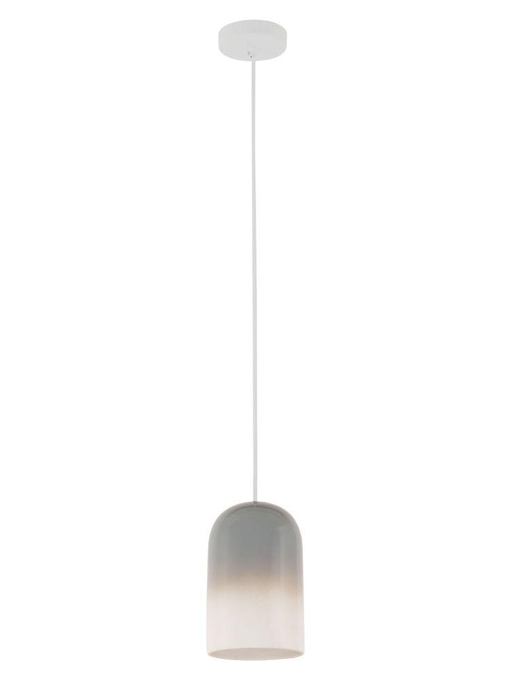 Maceda 1 Light Pendant in Grey/White