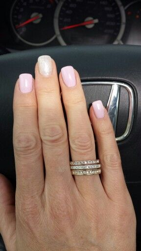 2 Layers Cnd Shellac Cake Pop With One Layer Cnd Shellac Romantique Over Top Accent Nail Is 2